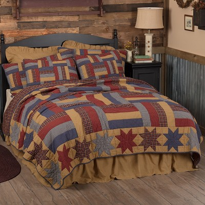Kindred Stars and Bars Quilted Bedding