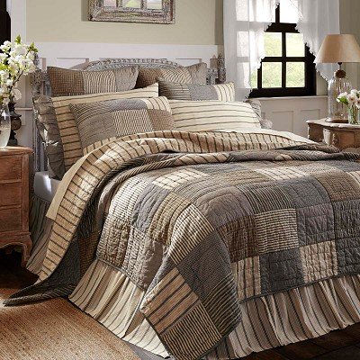 Sawyer Mill Charcoal Quilted Bedding
