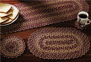 Burgundy/Tan Jute Kitchen Collection