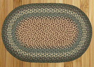 Dark Green Braided Rug