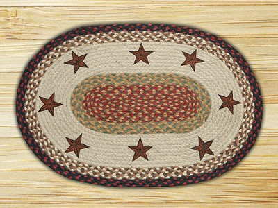 Barn Stars Braided Rug